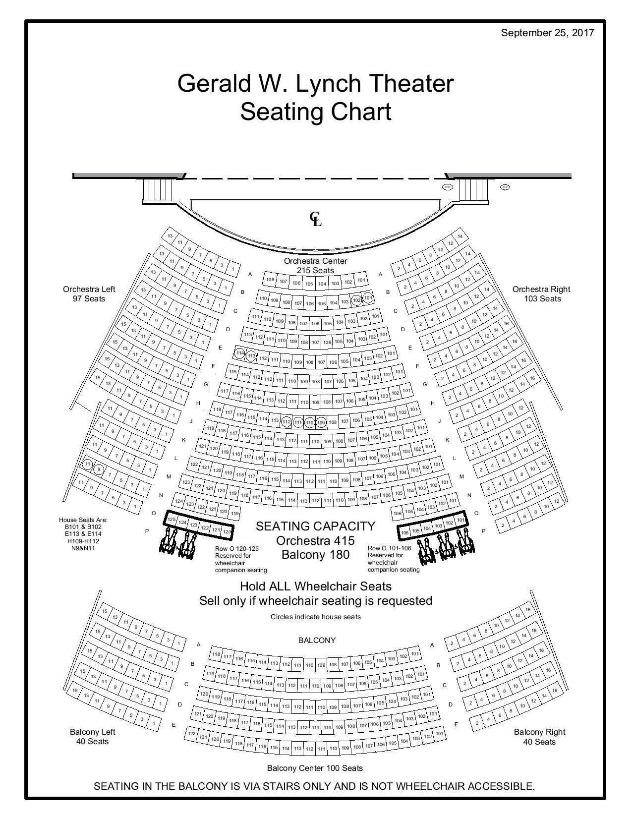 Gerald W Lynch Theater Seating Chart. Lincoln. Lincoln Theatre Seating Diagram At Scoala.co